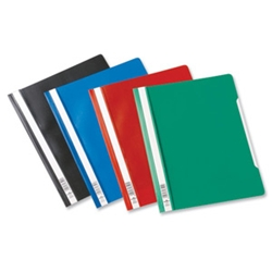 Clear View Folder Black Ref 257001 [Pack